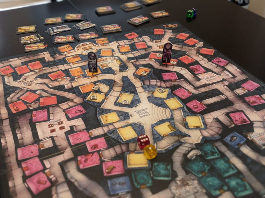 Dungeon! Board Game board and pieces